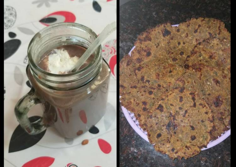 How to Cook Yummy Fenugreek(Methi)Thepla and Banoffee Shake