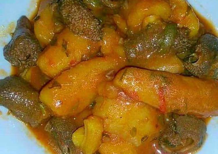 Step-by-Step Guide to Make Favorite Matoke with Matumbo Stew