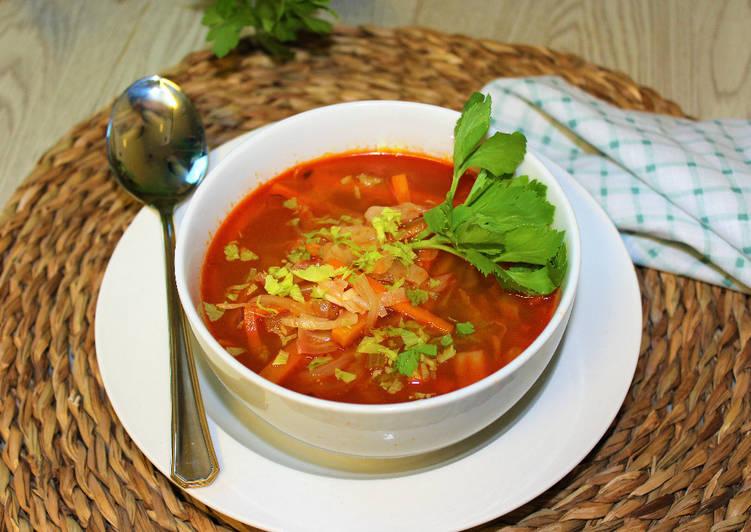 Sopa de verduras al pimentón