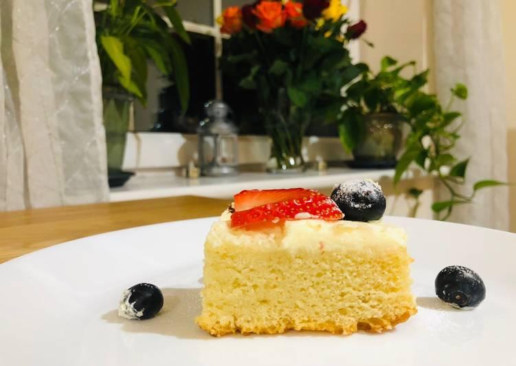 Vanilla Sponge Cake without Egg