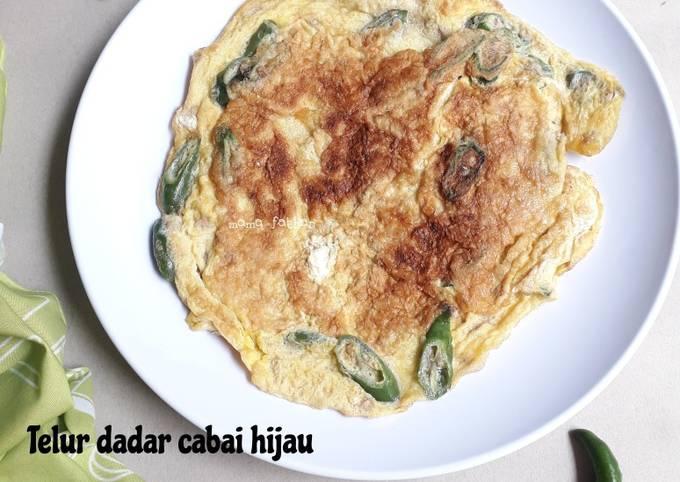 Telur dadar cabai hijau