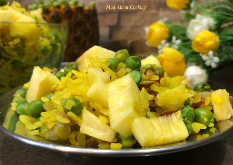 Steps to Prepare Favorite Pea Pineapple Poha – Winter Special