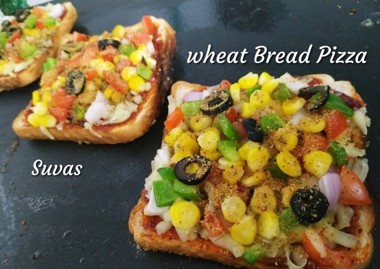 Wheat Bread Pizza on tava