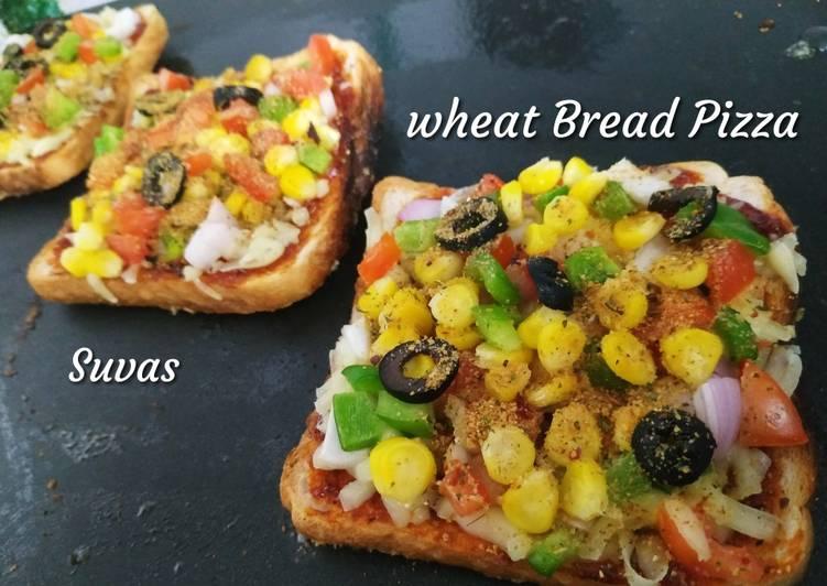 Wheat Bread Pizza on tava