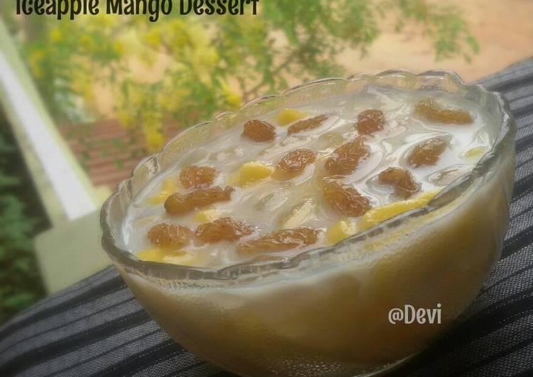 Ice Apple Mango Dessert