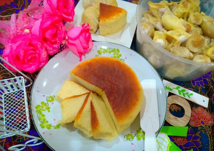 Japanese Cotton Durian Cheese Cake #Durian