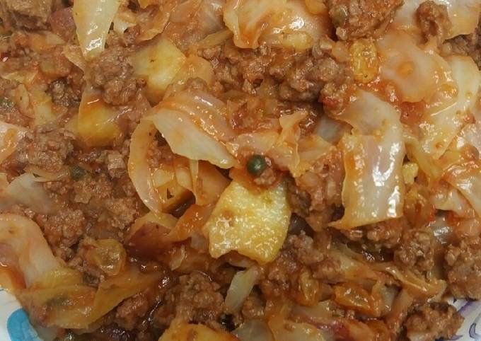 Picadillo meet Southern Fried Cabbage