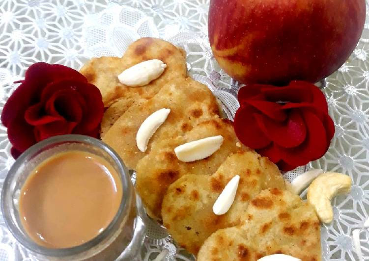 Recipe of Quick Apple &Nuts Paratha