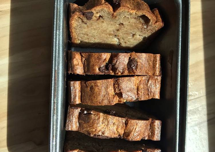 Moist eggless banana bread