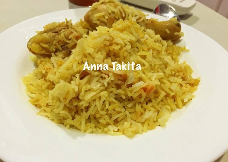 Nasi Biryani Super Mudah No Kukus No Rice Cooker