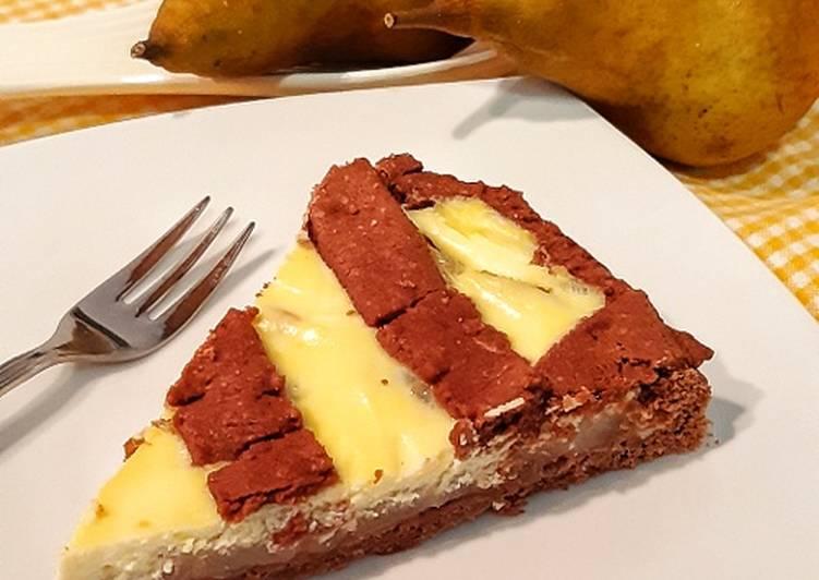 Ricetta Crostata Cacao Ricotta e Pere