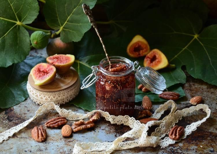 Confiture de figues du jardin, aux fruits secs
