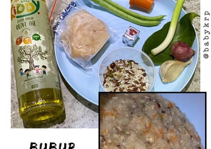 Cara membuat Mpasi 8 bulan: bubur kuah ayam yang lezat dan Mudah Dibuat