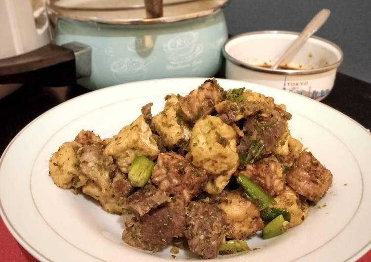 Daging Tahu Tempe Bumbu Ijo