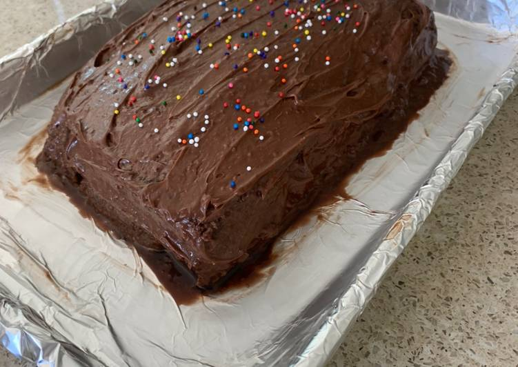 Birthday Cake - Layered Chocolate/Sugar Cake