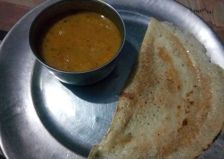 5 Minute Steps to Make Blends Sambar dosa