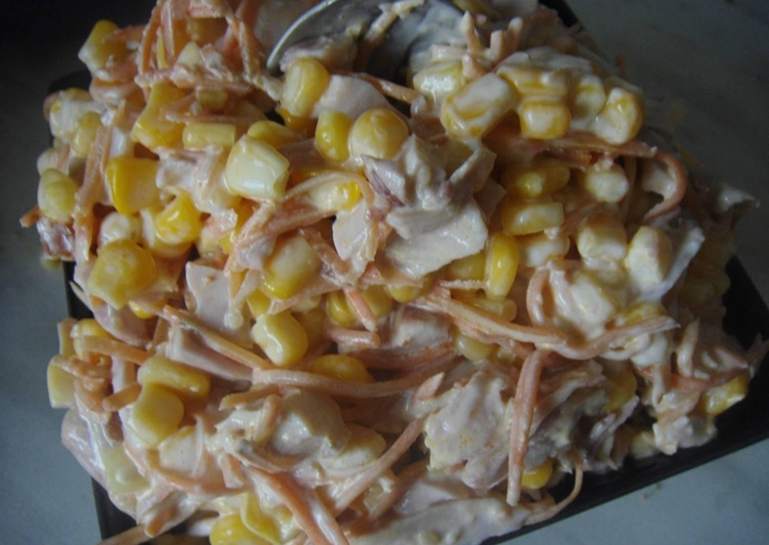 Салаты из копченой курицы рецепты с фото