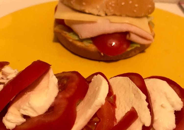 Burger jambon de poulet sauce burger