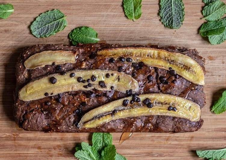 Mint chocolate chips banana bread 🍌 🍞