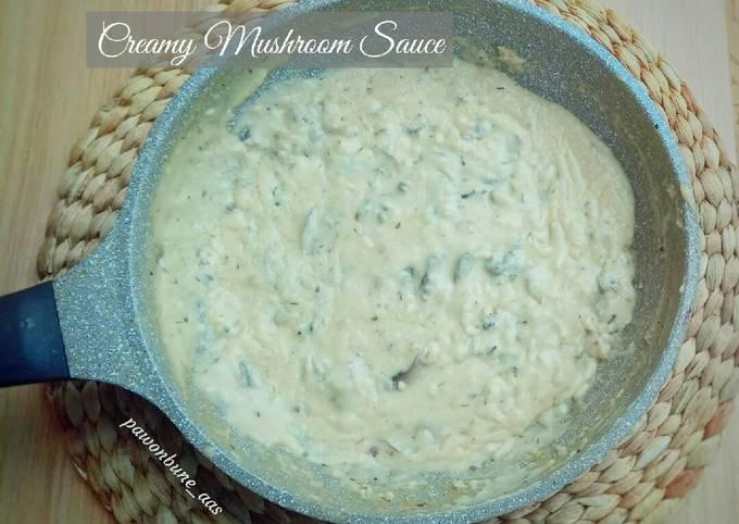 Creamy Mushroom Sauce (bahan ala kadarnya)