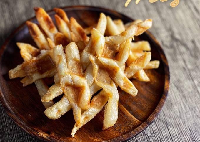 Waffle using Leftover Fries