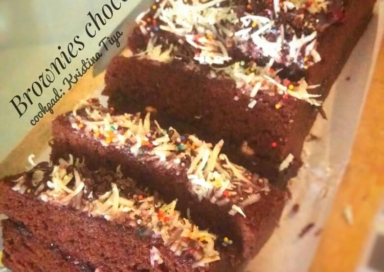 Brownies chocolatos kukus nan lembut