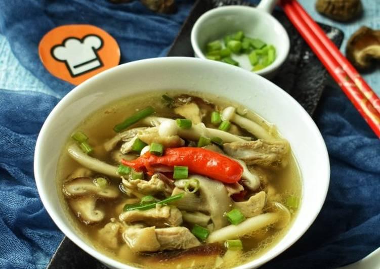 Resipi Sup Cendawan Ayam Kampungcendawanfayekusairi Oleh
