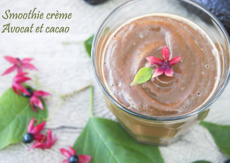 Le moyen le plus simple de Faire Délicieux Smoothie crème à l'avocat et cacao cru