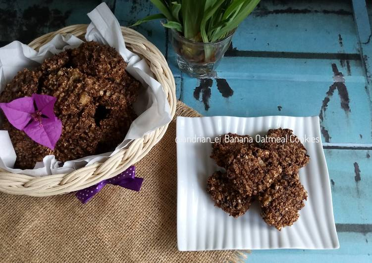 Banana Oatmeal Cookies (3 Bahan, Gluten Free)