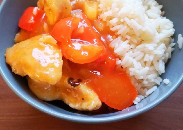 Chinesisches Hühnchen süß-sauer