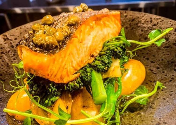 Pan roasted wild salmon