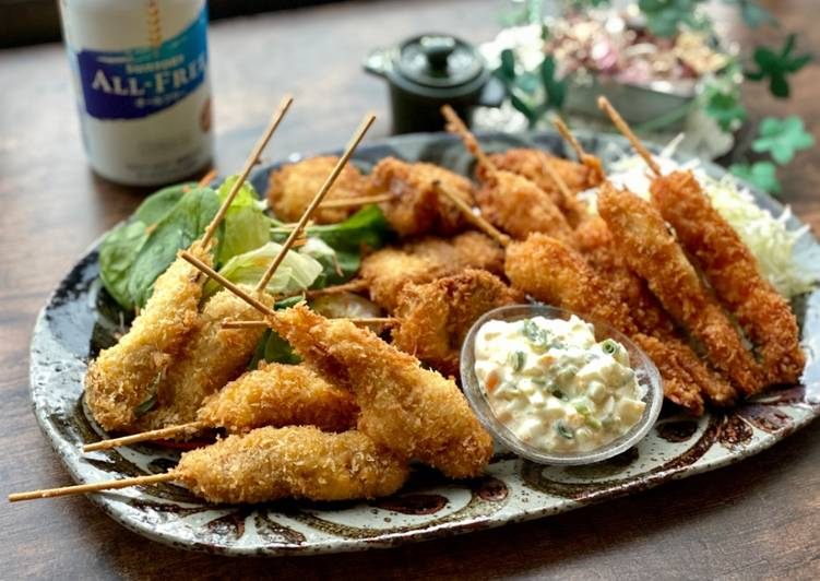 Easiest Way to Prepare Perfect Japanese Skewered Seafood Fry
