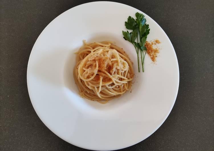 Recipe: Delicious Spaghetti con bottarga