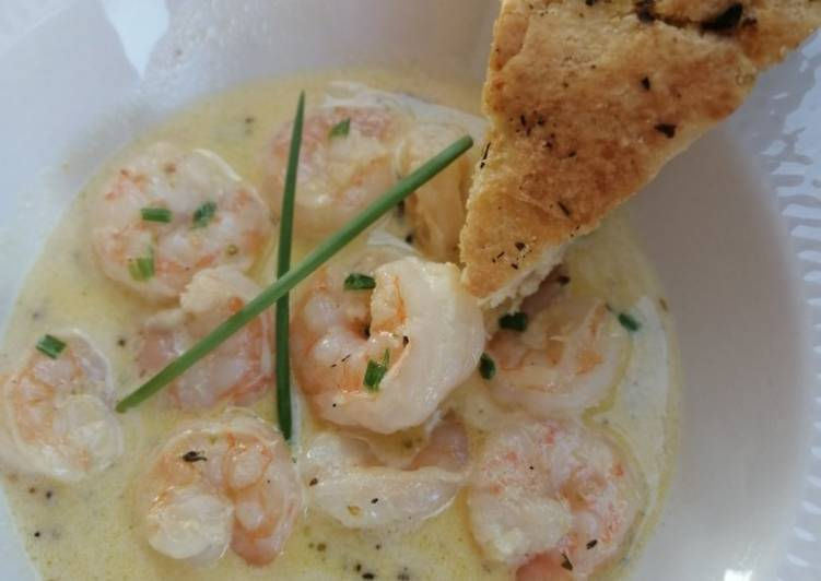 Step-by-Step Guide to Prepare Top-Rated Prawns in Lemon garlic butter sauce