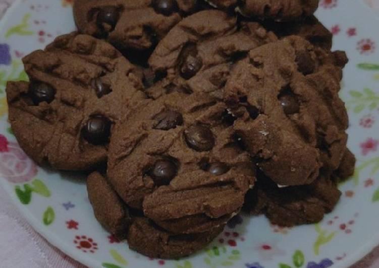 Resep Cookies coklat chocochips / GoodTime KW. Ga pake mixser, Lezat
