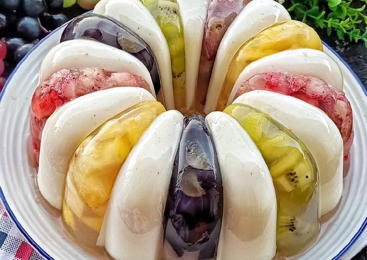 Resep Vanilla Fruit Pudding oleh Ine Setiawati - Cookpad
