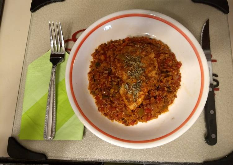 Chicken Breasts with Spanish Rice and Quinoa