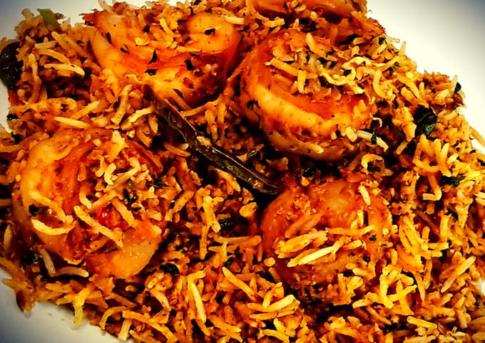 Spicy Prawn Egg Rice