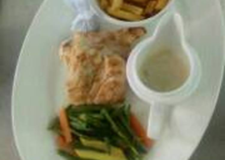 Simple Way to Make Award-winning Grilled sea fish with Chips