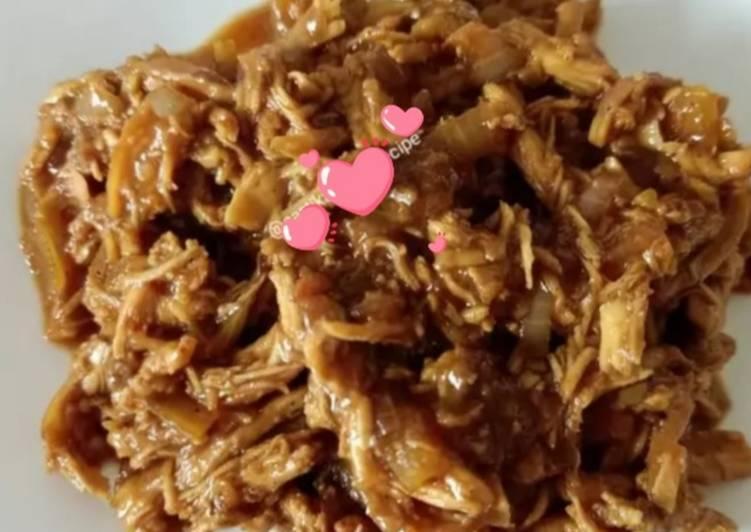 Resep Ayam Suwir (untuk isian Bakpao, Roti Goreng, Donat, dll) Paling Joss