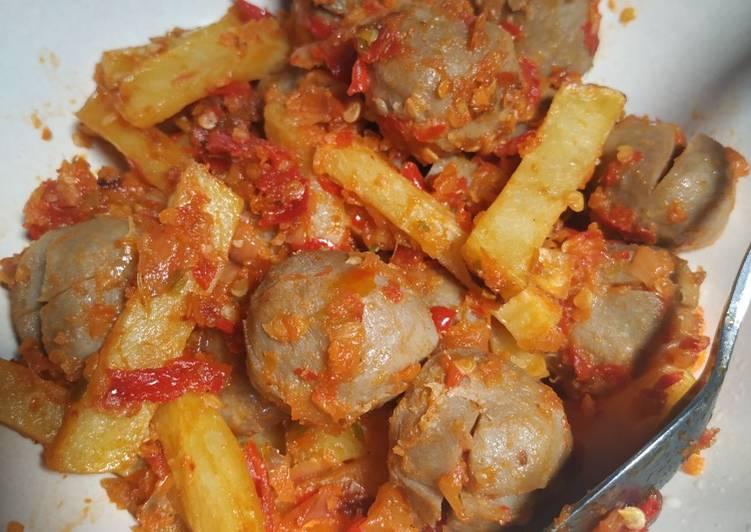 Sambal Balado bakso kentang