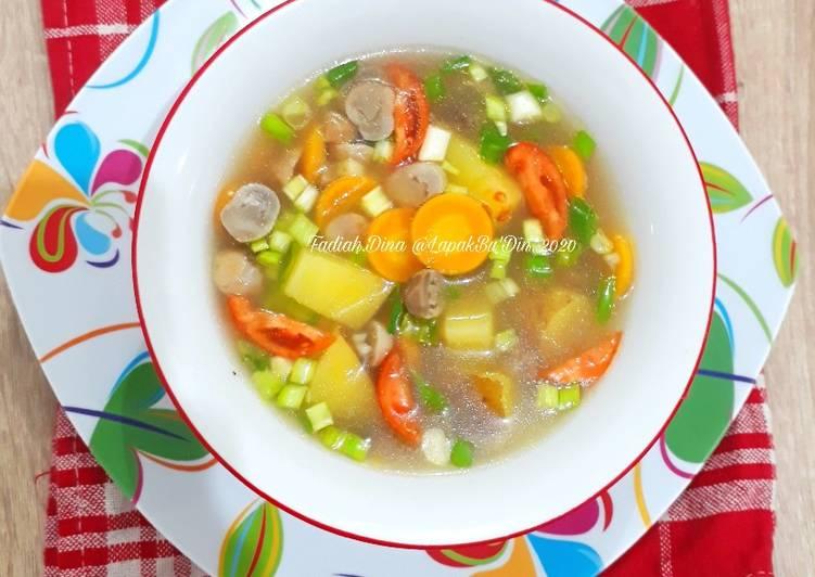 Sop Jamur Kancing Simpel