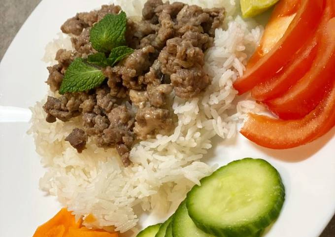 Viande hachée façon Cambodgienne