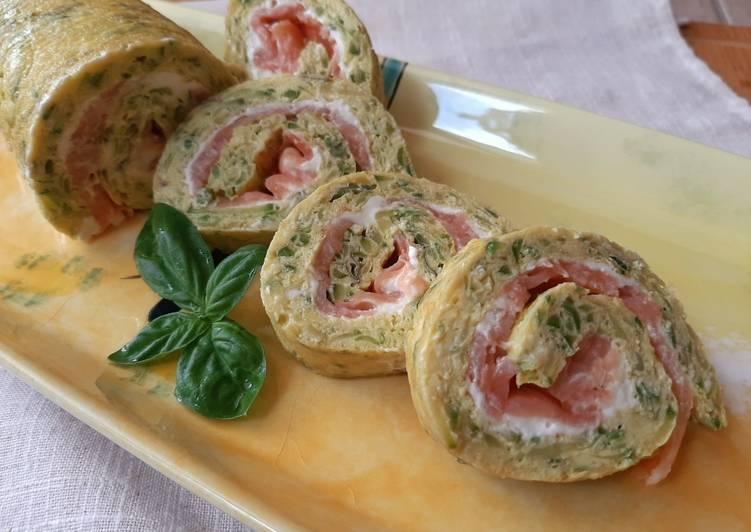 Rotolo di zucchine e salmone