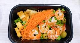 Hình ảnh món Salad tôm nướng muối chanh? sốt chanh leo