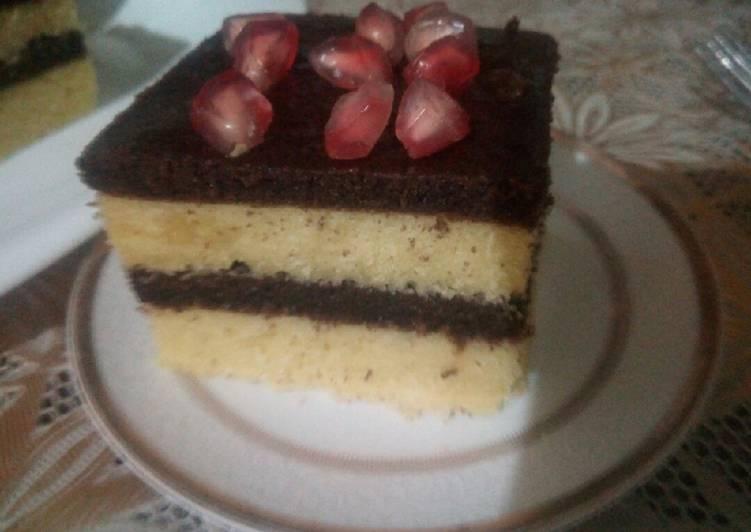 Recette Délicieux Cake stratifié vanille / cacao