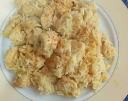 Pollo con curry, leche de coco y arroz basmati