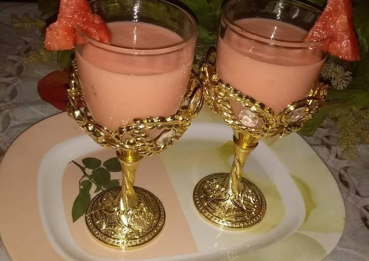 Recipe: Appetizing Watermelon and paw paw milkshake