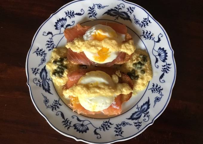 Step-by-Step Guide to Prepare Homemade California Farm Eggs Royale with cured salmon