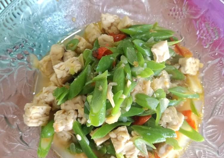 Resep Tumis tempe sayur buncis pedas Yang Gampang Pasti Enak